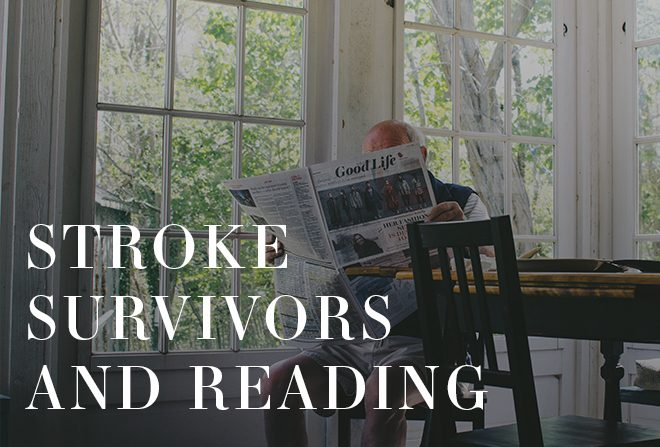 Stroke Survivors and Reading Banner